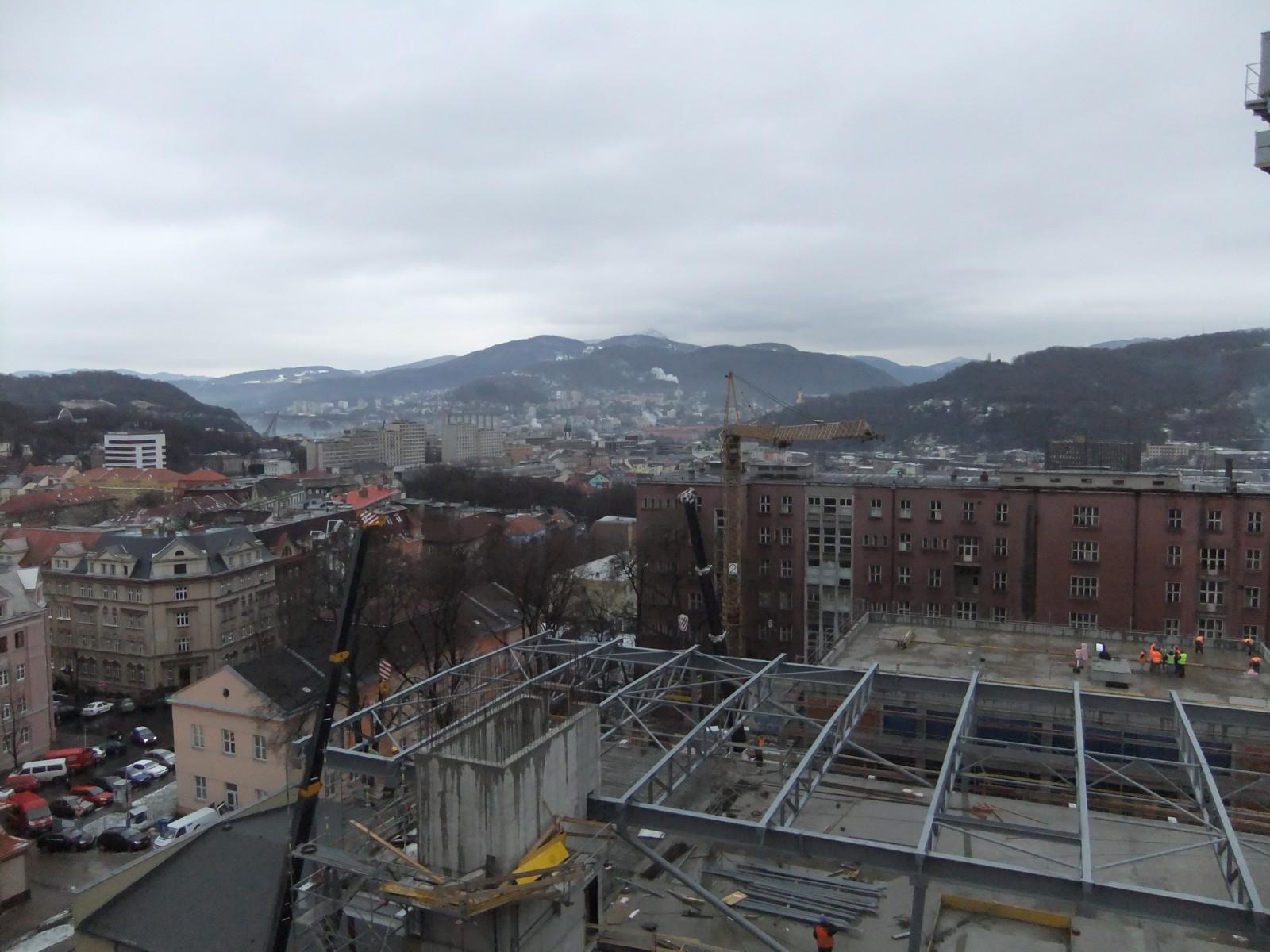 areál Kampusu UJEP v Ústí nad Labem 19-01-2012